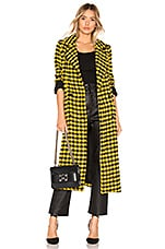 House of Harlow 1960 X REVOLVE Perry Coat in Yellow & Black