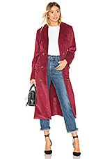 House of Harlow 1960 x REVOLVE Filippa Trench in Berry Red