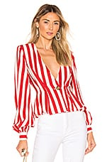 House of Harlow 1960 X REVOLVE Chandra Jacket in Red & White Stripe
