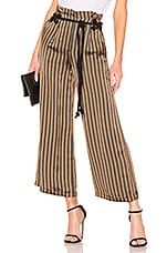 House of Harlow 1960 X REVOLVE Emeric Culotte in Brown & Black Stripe