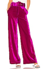House of Harlow 1960 X REVOLVE Mona Belted Pant in Magenta