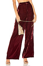 House of Harlow 1960 X REVOLVE Mona Wide Leg Pant in Rich