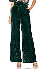 House of Harlow 1960 x REVOLVE Mona Belted Pant in Emerald