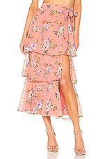 House of Harlow 1960 X REVOLVE Sabine Wrap Skirt in Rose Floral