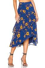 House of Harlow 1960 X REVOLVE Jacinda Midi Skirt in Blue Daisy Floral