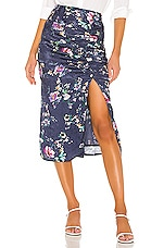 House of Harlow 1960 X REVOLVE Nayla Skirt in Navy Floral Multi
