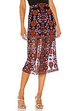 House of Harlow 1960 x REVOLVE Ariana Midi Skirt in Noir Multi