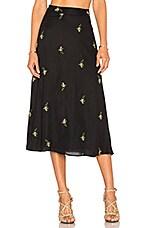 x REVOLVE Luna Midi Skirt in Black