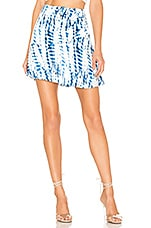 House of Harlow 1960 X REVOLVE Sheila Skirt in White & Blue Tie Dye