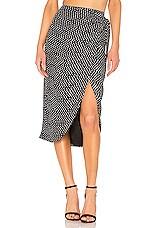 House of Harlow 1960 X REVOLVE Yahaira Skirt in Black & White Dot