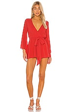 House of Harlow 1960 x REVOLVE Caprice Romper in Coral