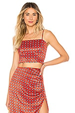 House of Harlow 1960 x REVOLVE Jula Top in Red Geo Tile