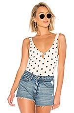 House of Harlow 1960 x REVOLVE Sawyer Bodysuit in Ivory Polka Dot