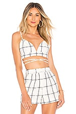 House of Harlow 1960 x REVOLVE Upton Top in White & Navy Plaid