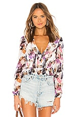 House of Harlow 1960 x REVOLVE Deborah Blouse in Lavender Floral