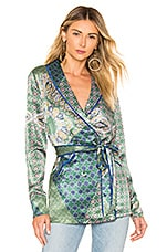 House of Harlow 1960 x REVOLVE Arthur Top in Moss Green Patchwork