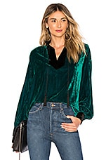 House of Harlow 1960 x REVOLVE Rebecca Blouse in Emerald