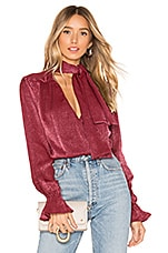 House of Harlow 1960 x REVOLVE Nanette Blouse in Raspberry Red