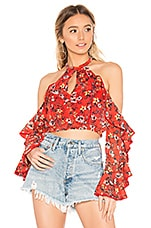 House of Harlow 1960 X REVOLVE Harmony Top in Red Floral