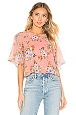 House of Harlow 1960 X REVOLVE Marloes Blouse in Rose Floral