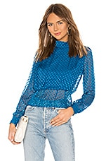 House of Harlow 1960 x REVOLVE Brendon Silk Blouse in Deep Teal