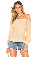 House of Harlow 1960 x REVOLVE Iris Blouse in Almond