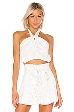 House of Harlow 1960 x REVOLVE Alana Halter in White & Black Dot