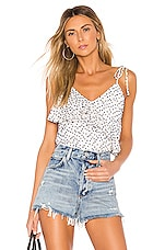 House of Harlow 1960 X REVOLVE Amelie Tank in White & Navy