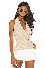 House of Harlow 1960 X REVOLVE Enzo Top in Natural
