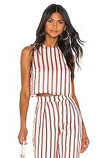 House of Harlow 1960 X REVOLVE Paula Crop in Red Pop Stripe