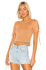 House of Harlow 1960 X REVOLVE Kyra Top in Camel