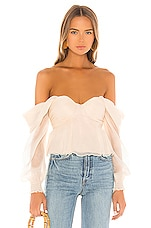 House of Harlow 1960 X REVOLVE Burna Blouse in Cream