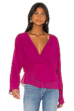 House of Harlow 1960 X REVOLVE Anaya Blouse in Magenta