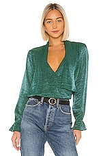 House of Harlow 1960 X REVOLVE Nanette Blouse in Emerald
