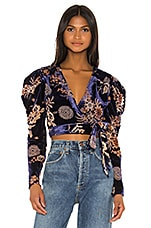 House of Harlow 1960 x REVOLVE Indie Blouse in Navy Floral Multi