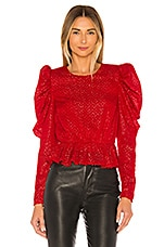 House of Harlow 1960 x REVOLVE Darya Blouse in Red