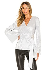 House of Harlow 1960 x REVOLVE Vina Blouse in Silver