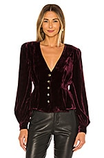 House of Harlow 1960 x REVOLVE Chandra Blouse in Wine