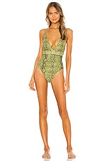 House of Harlow 1960 x REVOLVE Anastasia One Piece in Green Python