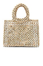 House of Harlow 1960 X REVOLVE Rhodes Beaded Purse in White Multi