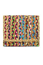 House of Harlow 1960 X REVOLVE Bota Clutch in Natural Multi