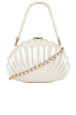 House of Harlow 1960 x REVOLVE Clam Shell Clutch in Pearl