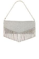House of Harlow 1960 x REVOLVE Diana Fringe Clutch in Silver Rhinestones