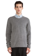 Con Sweater in Grey Melange