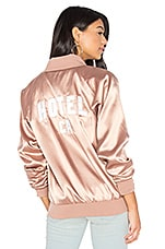 Hotel CA Satin Bomber in Rose Taupe