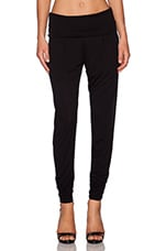 Foldover Pant in Black