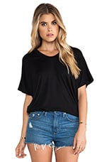 Shirttail Tee in Black