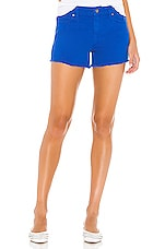 Hudson Jeans Gemma Midrise Cut Off Short in Racer Blue