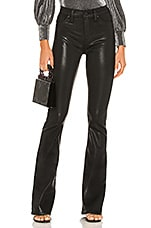 Hudson Jeans Barbara High Waist Bootcut in Noir Coated
