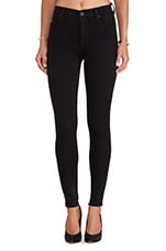 Barbara High Waisted Skinny in Black